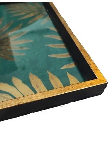 Arte Casero Cam Baskı Yaprak Tepsi 40x40 CM Renkli